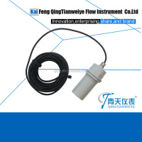 Soft water tank ultrasonic level indicator