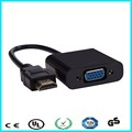 20cm Black HDMI Input to VGA Adapter Converter For PC