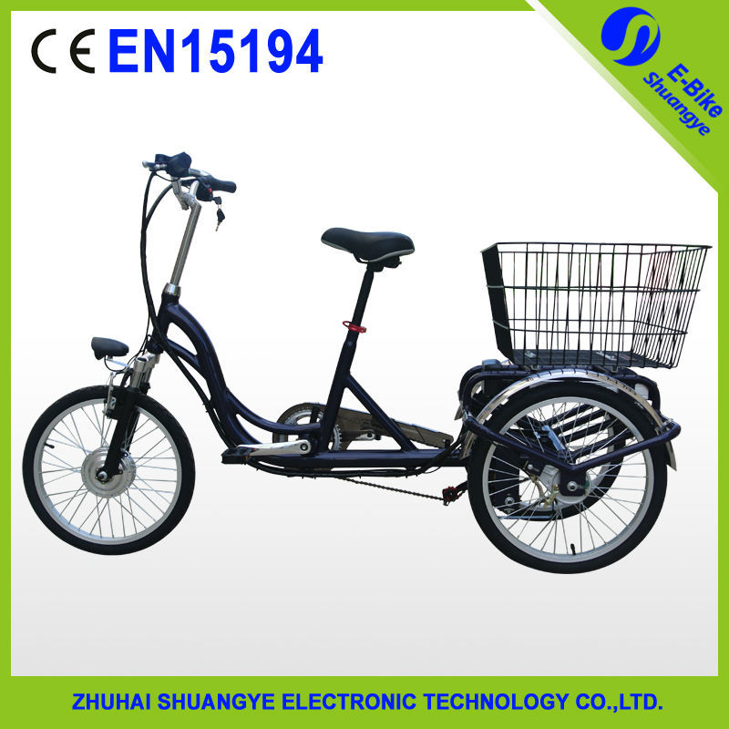 Brushless motor 250w cheap adult electric tricycle