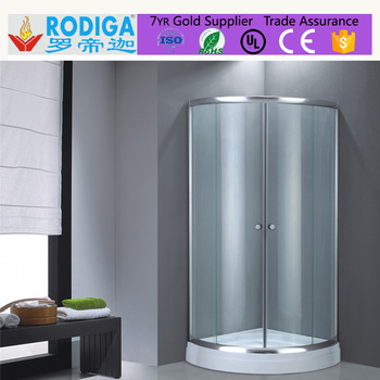sliding door fiberglass simple shower enclosure