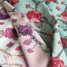 china wholesale 100 polyester woven printed chiffon fabric for clothing,garment,wedding,dress