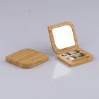 empty cosmetic packaging bamboo magnetic makeup case organic 4 color eyeshadow palette