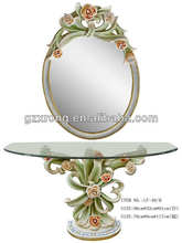 Flower modern dressing table with mirrors