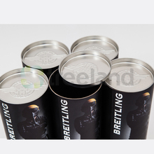 Round Paper Tube Box Packaging with Embossed Tin lid Closure