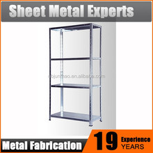 DIY Scaffalature 4 Rack In Metallo Impilabile Rack per Garage e Magazzino
