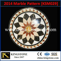 Beautiful round marble floor waterjet medallion with special design