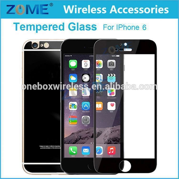 2.5D 0.26Mm Premium Real Ultra-Clear Color Front+Back Mirror Tempered Glass Film Screen Protector Cover For Iphone 6