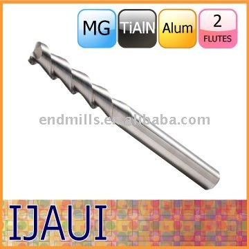 Machine tool solid carbide end mill with TiAIN for alumnum alloy made in Germany