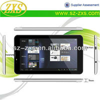 Zhixingsheng 3G dual core 7 inch mid android tablet pc 3g gps MTK6577