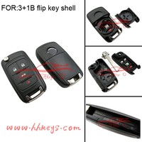 Wholesale Vauxhall Astra 3+1 buttons remote flip key fob for Opel flip key