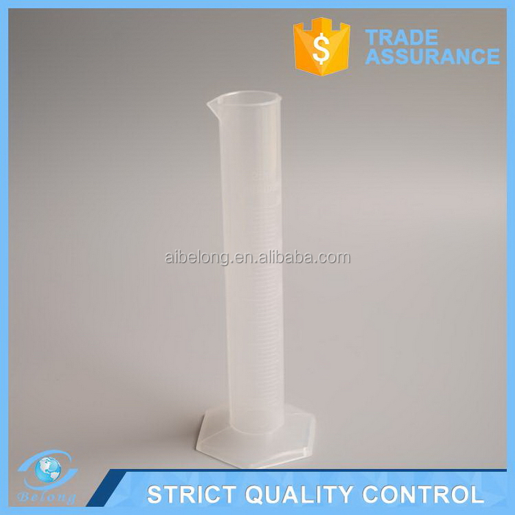 Direct factory useful plastic graduated cylinder with lid