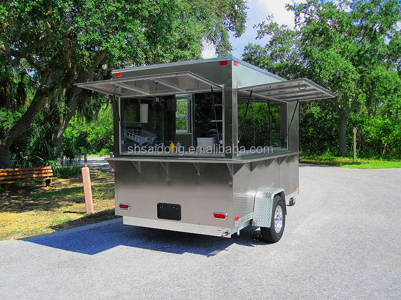 Most popular street food kiosk cart for sale kebab van for - Remorque cuisine mobile ...