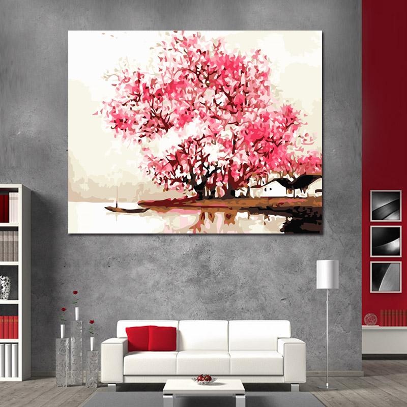 New Hot Selling Frameless DIY Painting By Numbers Acrylic Paint On Canvas Handpainted Oil Painting For Home Decor Wall Artwork