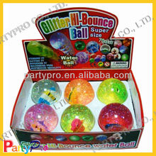 2013 New 10cm Colorful Bouncing Liquid Ball With Glitter Inside