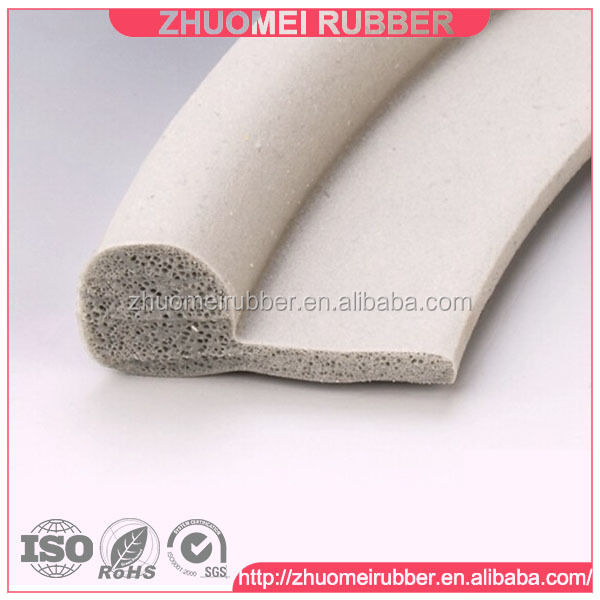 Rubber P profile P shape silicone strip