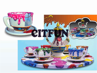 Popular rotating coffee cup rides for amusement park ride