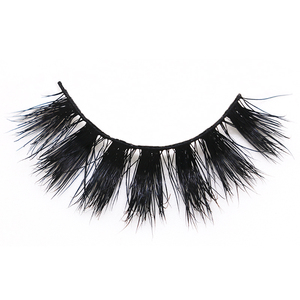 Cruelty free 3d mink false eyelashes 17mm private label eye lashes 100% handmade real Siberian mink fur 3d fake strip lashes