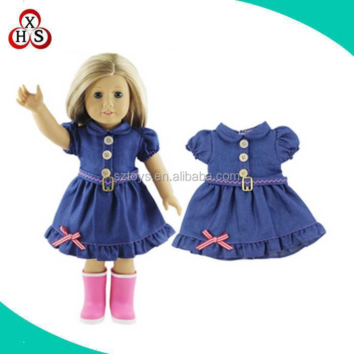 "factory wholesale 18"" inch doll clothes customized american girl doll clothes"
