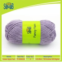 Oeko-Yex tube yarn china new products GG ribbon yarn factory price machine knitting cotton nylon blend hollow tape yarn