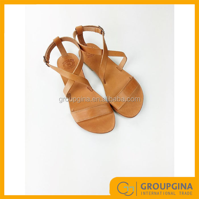 New Arrival Ladies Open Toe Greek Leather Sandals