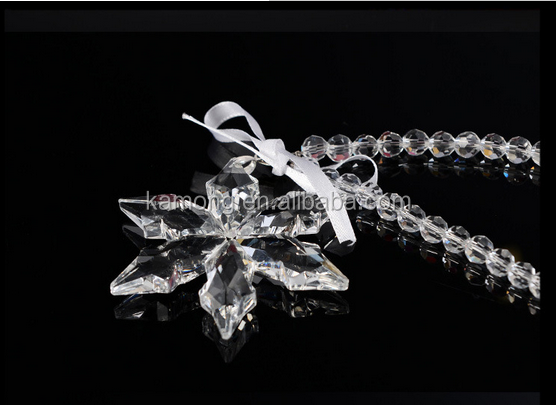 2016 Christmas crystal snowflake ornament window for home decoration pendant