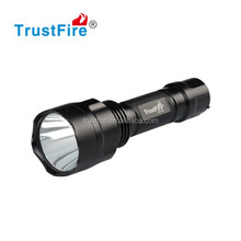 Trustfire aluminum alloy led flashlight C8-T6 rechargeable led flashlight torch just with 1*18650 battery