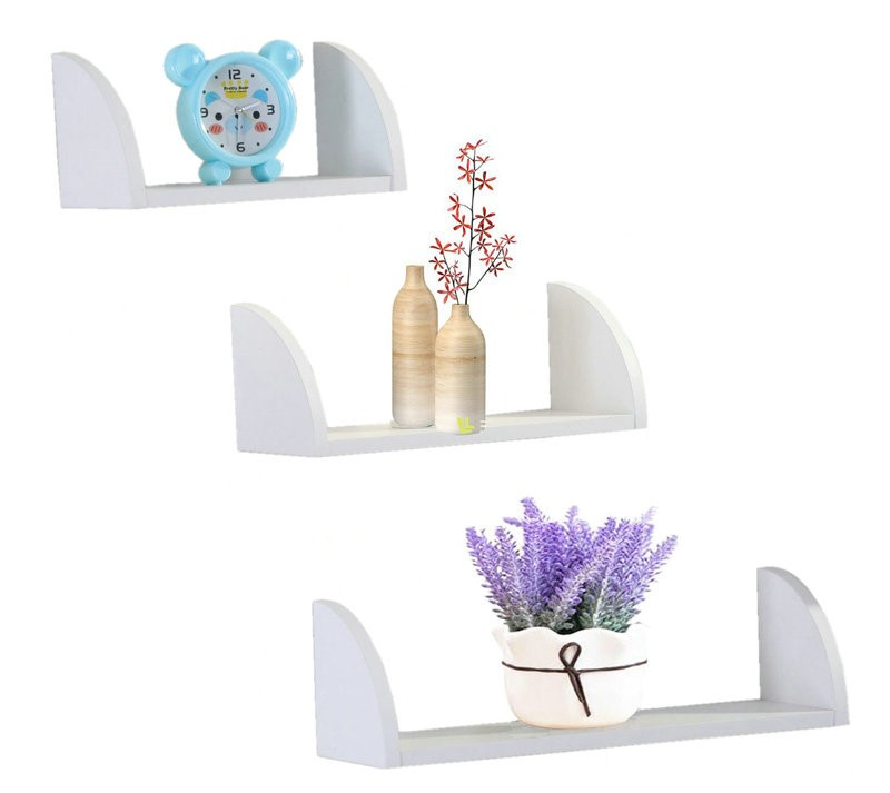 colorful decorative floating wall mount home wall shelf
