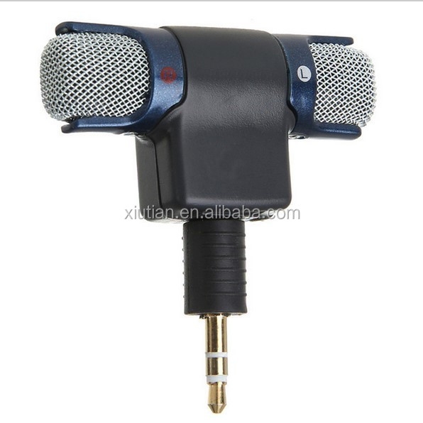 Stereo Mic Microphone with 3.5mm to mini USB Micro Adapter Cable for GoPro Hero 3 3+ 4 AEE Sporting Cameras