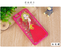 Hot Quicksand Elegant Woman liquid Glitter Star Phone Cover for iPhone6 case