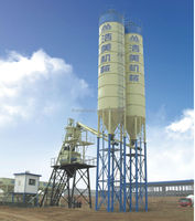 Low Cost automatic concrete batching plant with silo with high quality and efficiency for sale