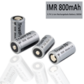 Flat/Top IMR 800mAh 18350 Lithium Rechargeable Battery