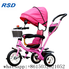 baby tricycle with widen seat/new cool design kids tricycle with safety belt/steel frame child tricycle for kids with backseat