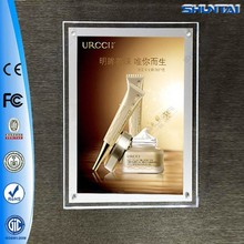 Wholesale price poster frameless backlit acrylic box picture frame