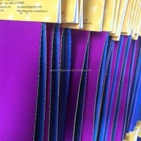 ANSON polyester texture fabric, double sides of neoprene laminated terylene fabric