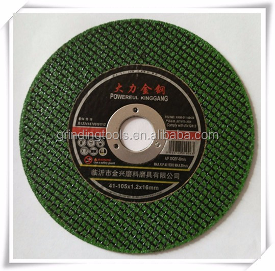 "4"" resin bonded cutting wheel for metal cut"
