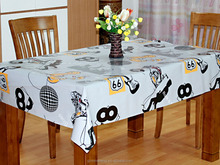 customized plastic PVC table cloth / table cover