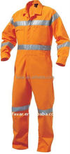 Men's cotton fireproof hi vis reflective coverall