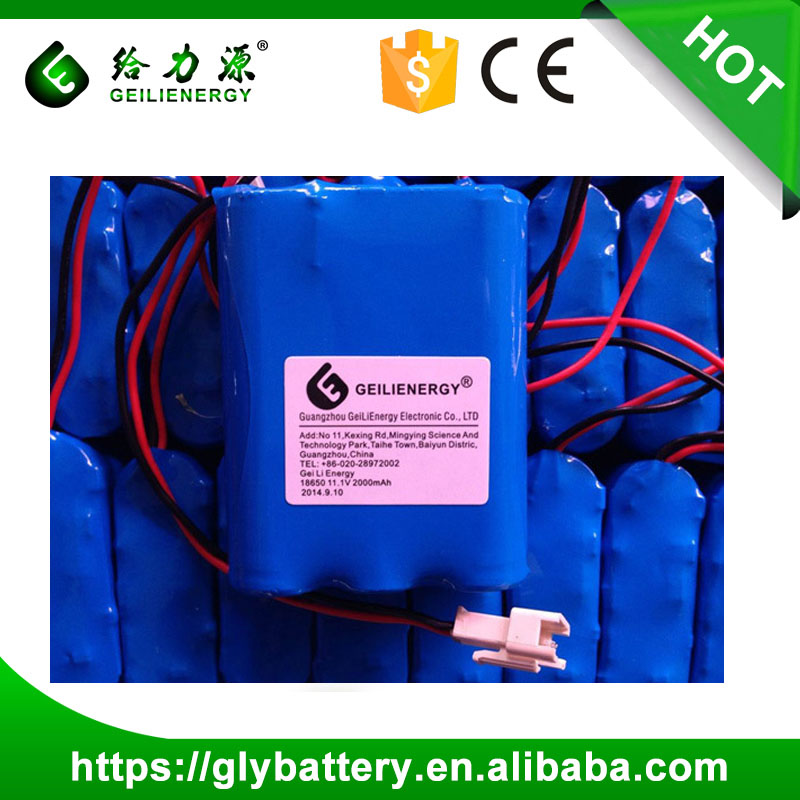 Manufacturer OEM 3s1p 11.1v 18650 Li-ion 1800mah rechargeable batteries