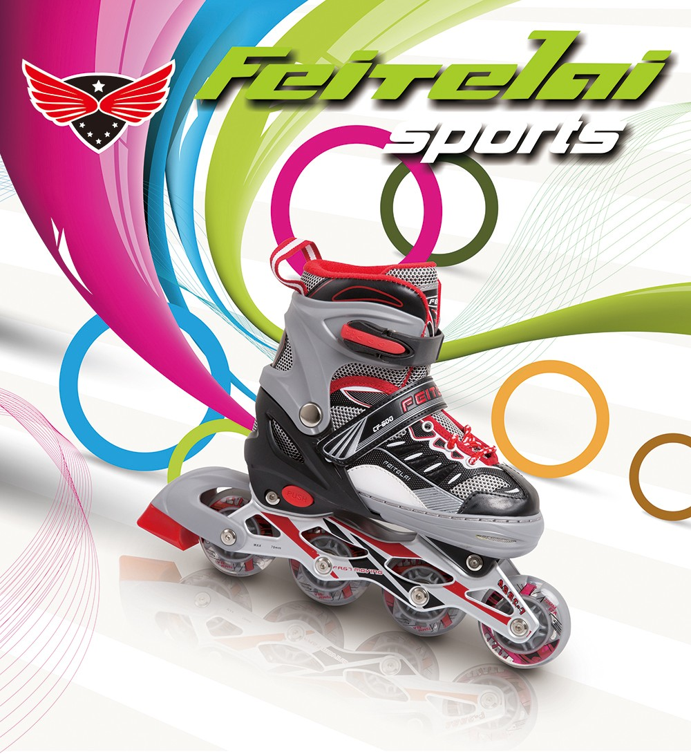 The new arrived inline skates pu wheel inline roller blade shoes