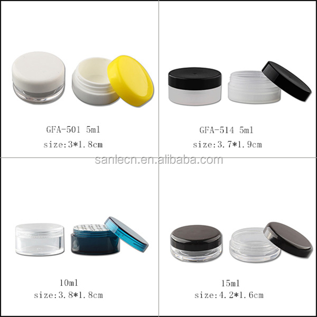 10g clear plastic eye cream jar wholesales