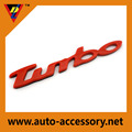Wholesale custom self adhesive red car sticker chrome turbo emblem