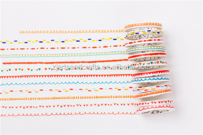 Manzawa writing printed custom washi paper Decorative Tape