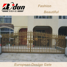 Steel pipe main entrance gate design