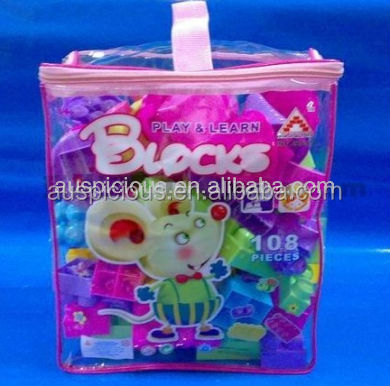 Children PVC toy bags with zipper
