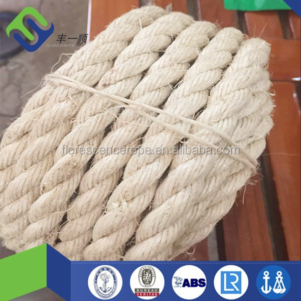 biodegradable quality thick sailing boats mooring cord twist natural hard braided raw sisal marine rope manufacturer