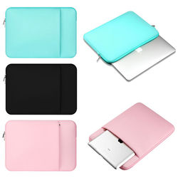 Fashion Laptop zipper sleeve soft Case Carry Bag Notebook For Macbook ipad