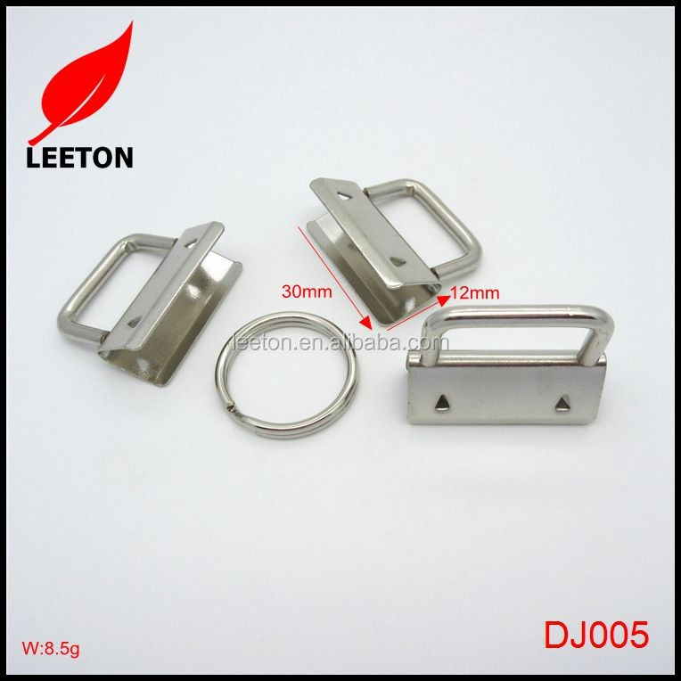 Factory supply 30mm metal key FOB hardware with keyring