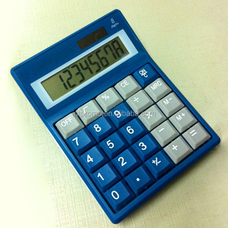 8 digits Middle size office use desktop dual power computer key calculator