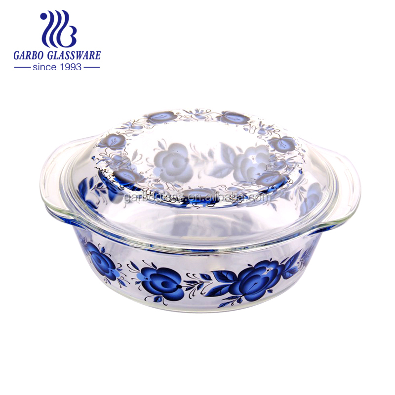 Pyrex glass casserole dish heat resistant glass cooking pot Microwave safe borosilicate glass bowl