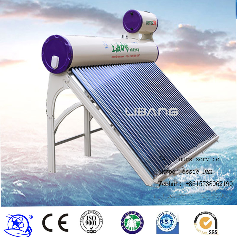 Residential use Pressurized type Built-in Copper Coil Pipe Pressure Solar Water Heater 330L with excellent vacuum tube